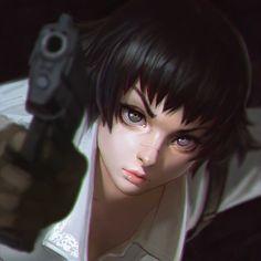 Devil May Cry 3 Lady, Ilya Kuvshinov on ArtStation at http://www.artstation.com/artwork/devil-may-cry-3-lady