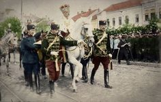 The coronation of King Peter of Serbia! Belgrade 1904: