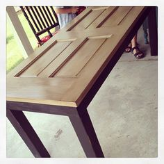 Table ideas on pinterest old doors door tables and old for How to turn an old door into a table