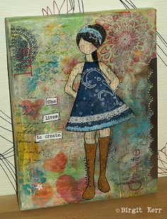First She Art Girl by phossy_69, via Flickr