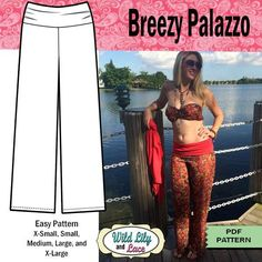 Palazzo Pants Pattern Download | Sewing: Bohemian Palazzo Pants