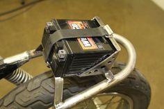 Honda CB350F hoop and battery