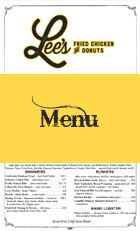 Our Menu | Lee's Fried Chicken and Donuts