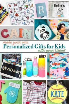 Make Personalized Gifts for Kids with Your Cricut. Make personalized gifts in minutes with your Cricut. Customize and add your own personal touch. Choose favorite colors, monograms and more. Love the gifts you give!