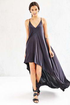 Silence + Noise Monica Sharkbite Maxi Dress - Urban Outfitters