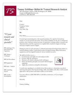 research cover letters