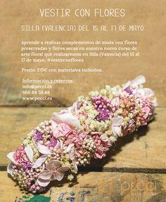 Vestir con flores: Nuevo taller de moda floral