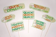 X- Large Set of Printable Duck Dynasty Props - Set of 23 Photo Booth Props {PLUS} Free Photo Booth Sign