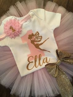 Hey, I found this really awesome Etsy listing at https://www.etsy.com/listing/266308621/fairy-birthday-outfit-pink-and-gold