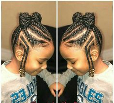 TOP 24 Bast African Braids for Little Black Girls - Trends 2018 Fulani style cor. <img> TOP 24 Bast African Braids for Little Black Girls – Trends 2018 Fulani style cornrows into ponies Kids Hairstyles - Black Hair Hairstyles, Little Girl Braid Hairstyles, Natural Hairstyles For Kids, Kids Braided Hairstyles, My Hairstyle, Box Braids Hairstyles, Hairstyle Ideas, Teenage Hairstyles, School Hairstyles