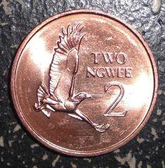 Zambia 2 Ngwee Martial Eagle Bird Animal Wildlife Coin   eBay