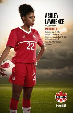 Ashley Lawrence #FIFAWomensSoccer  #CanadaRED (via Di's Pins)