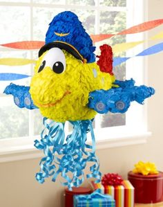 Airplane Adventure Pull-String Pinata - Airplane Adventure Pull-String Pinata This is a colourful room decoration and fun activity in one! Planes Birthday, Planes Party, Airplane Party, Party Kit, Party Shop, Baby Party, Party Ideas, First Birthday Party Themes, Baby 1st Birthday