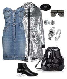 """""""Untitled #249"""" by stylistrr on Polyvore featuring Wanda Nylon, Moschino, McQ by Alexander McQueen, Loungefly, Bling Jewelry, Yves Saint Laurent, Michele and David Yurman"""