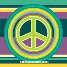 PEACE STRIPE series NYU Bumper Art Sticker by goodcommonzen