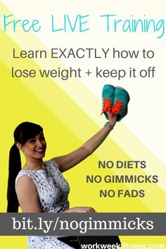 Tired of diets but ready to lose weight? Learn exactly how to lose weight on your own - without diets, gimmicks or fads. HINT: It's easier than you think! Click through to register for the free training.