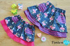 Blog Tintenelfe.de - Das doppelte Röckchen - Nähen für Kinder - Geschenk zu Ostern - Schnitt von Lillesol und Pelle