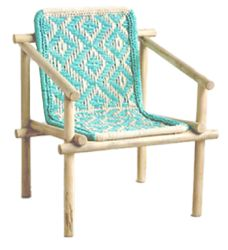 Diamond Weave Chair A happy turquoise chair is the perfect way to bring the beach right inside
