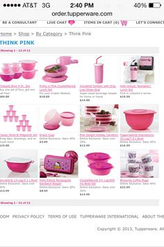Pink!!!  http://order.tupperware.com/pls/htprod_www/!tw$shop.p_category?pv_ic_code=10001