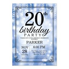 500 20th birthday party invitations