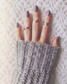 Winter Nail Color - Gray