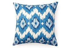 Ikat Pillow, Blue