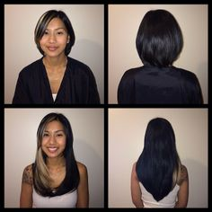 Before and after #ombre hair extensions.