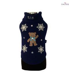 Xmas Teddy Bear - What's Christmas without a teddy bear? <3 #dog sweatshirt decorated with elegant snowflakes | Cos'è Natale senza un orsacchiotto? Calda felpa per cani decorata con fiocchi di neve #Chic4Dog