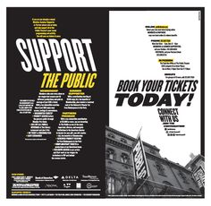 Pentagram's Paula Scher puts a new slant on her iconic identity for the Public Theater in the campaign for the institution's 2014-2015 season.
