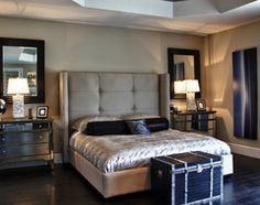 mirrors behind lamps on nightstands | For the Home | Pinterest ...