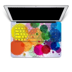 Splatter paint on the keyboard! Talk about art geek! This could be fun on my new laptop. :)