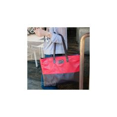 Two-Tone Tote ($26) ❤ liked on Polyvore