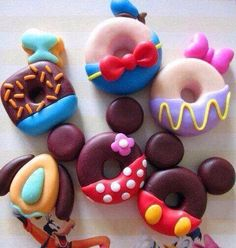 Disney Character Donuts - Yummy!