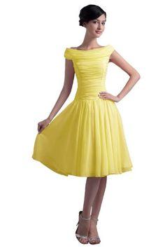 Dresstells Scoop Knee-length Short Prom Dress Chiffon Beach Party Formal Evening Gown Size 8 Yellow Dresstells http://www.amazon.com/dp/B00JZCSZAG/ref=cm_sw_r_pi_dp_knC3tb0NB011THA1