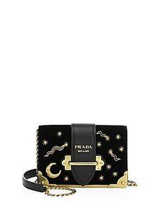 9437deb26d Prada - Cahier Moon   Stars Velvet Crossbody Bag