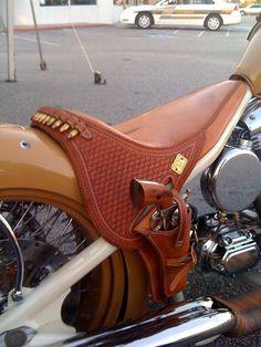 Bike seat holster.