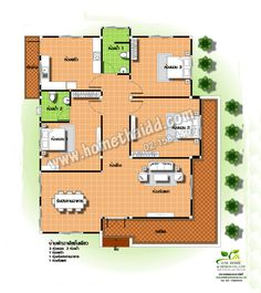แบบบ้าน D - 23 Floor Plans, Houses, Wish, Floor Plan Drawing, House Floor Plans