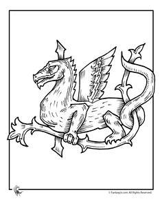 Fantasy Jr. | celtic-dragon-coloring-2