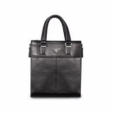 Black or Brown Real First Layer Cowhide Genuine Leather Mens Business Briefcase Handbag Shoulder Bag Men Messenger Bags College #Affiliate