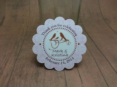Love Birds wedding favor tags  pink and brown by JustScrapsNThings, $5.00