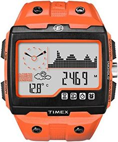 bbf00cc0fb9f Amazon.com  Timex Expedition WS4 Widescreen 4-Function Watch  (Orange Black)  Timex  Sports   Outdoors