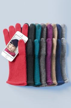 Winter essential | 'Touch Tech' cashmere gloves.
