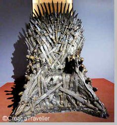 Iron Throne from Game of Thrones is now on display in the Game of Thrones Museum on Lokrum Island, an easy Dubrovnik day trip. More: http://www.croatiatraveller.com/southern_dalmatia/Dubrovnik/game-of-thrones.html