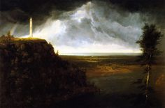 The Athenaeum - Brock's Monument (Thomas Cole - )