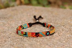The Costa Rica  Loom Beaded Bracelet by ElevationBeads on Etsy