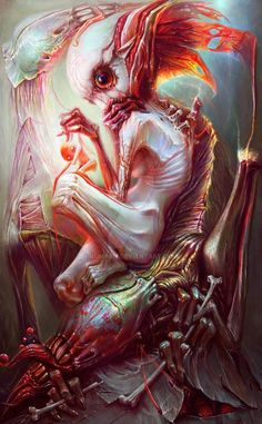 I love Art ,Horror and other nice things. All the Pictures that I post do not belong to me! Creepy Horror, Creepy Art, Weird Art, Strange Art, Arte Horror, Horror Art, Dark Fantasy Art, Dark Art, Fantasy Creatures