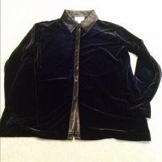 """Talbots Black Button Up Blouse Talbots Button Up Velvet Blouse in Black. SP. Bust 20"""" arm pit to arm pit. Waist. 20""""shoulder NO TRADING NO HOLDS, PLEASE DON'T ASK. LOWBALL OFFERS WILL BE IGNORED. to hem 25"""". Talbots Tops Blouses"""