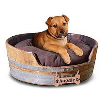 Wine Barrel Pet Bed Small at Wine Enthusiast Dog Ramp For Bed, Dog Beds For Small Dogs, Large Dogs, Wine Barrel Dog Bed, Wine Barrel Crafts, Barrel Projects, Diy Projects, Wine Barrel Furniture, Wine Craft