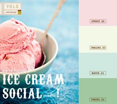 July is National Ice Cream Month and we are having an Ice Cream Social (media)!  www.yolocolorhouse.com