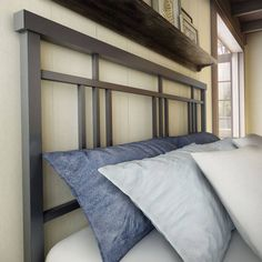 Amisco Cottage 54-inch Full-size Metal Headboard and Footboard